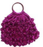 Rosy Hand-held Bag (Purple)