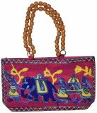 Lal Haveli Hand-held Bag (Pink)
