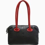 Jeane Sophie Hand-held Bag (Black, Red)