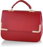 Kelvin Straw Hand-held Bag (Maroon)