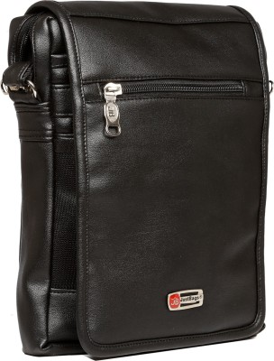 Just Bags Men Black PU Sling Bag