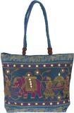 Fashiondrobe Shoulder Bag (Blue, Black)