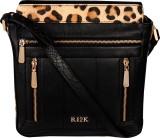 RI2K Sling Bag (Black, Multicolor)