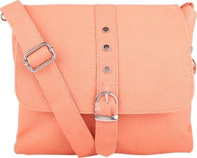 Fair Deals Women Orange PU Sling Bag