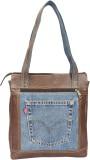 Hibiscus Shoulder Bag (Brown, Blue)