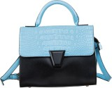 Peaubella Hand-held Bag (Black, Blue)