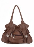 Zircons Shoulder Bag (Brown)