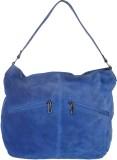 Handle Drop Hand-held Bag (Blue)