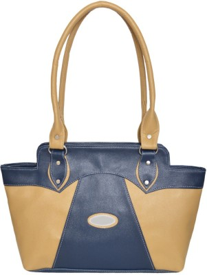 Hand bag Hand-held Bag(Blue & Beige)
