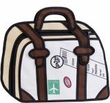 Noise Messenger Bag (White, Brown)
