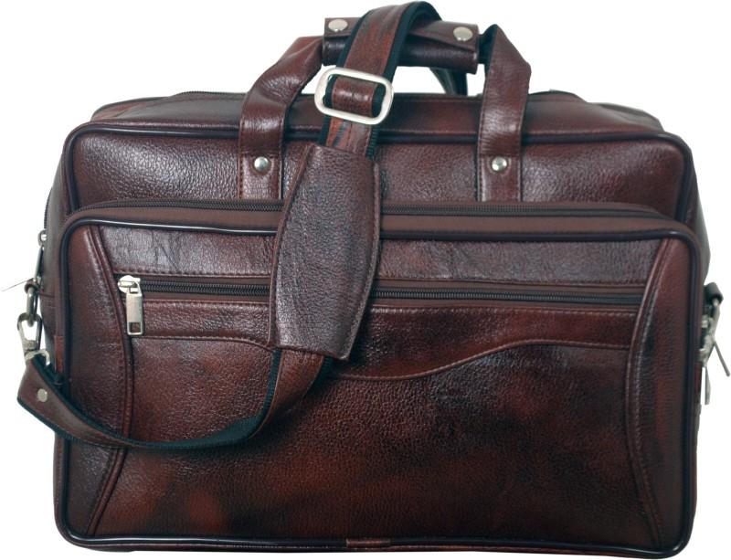 Green Hide Messenger Bag(Brown)