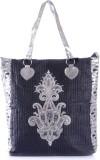 Peaubella Shoulder Bag (Black, Silver)