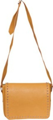 Essart Women, Men Yellow PU Sling Bag