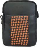Brune Messenger Bag (Black, Tan)
