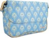 Murcia Women Beige, Blue Hand-held Bag