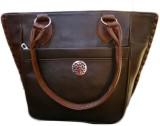Violet Hand-held Bag (Brown)