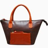 Jeane Sophie Hand-held Bag (Brown, Orang...