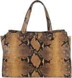 Handle Drop Hand-held Bag (Brown, Black)