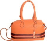 Tanishka Exports Hand-held Bag (Orange)