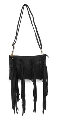Amatra Girls, Women Black Leatherette Sling Bag