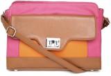 Dressberry Sling Bag (Pink, Brown)