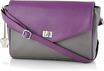 Butterflies Sling Bag(Grey, Purple)