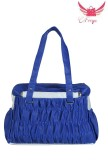 Freya Shoulder Bag (Blue, White)