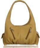Leather Land Shoulder Bag (Beige)