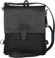 Walletsnbags Messenger Bag(Black)