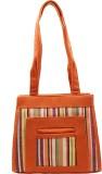 Shop & Shoppee Shoulder Bag (Orange, Whi...