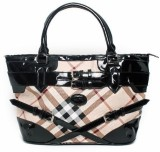 Calvino Hand-held Bag (Beige, Black)