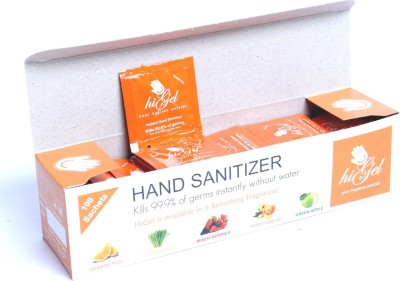 HiGel Orange Peel 100 Sachets Hand Sanitizer