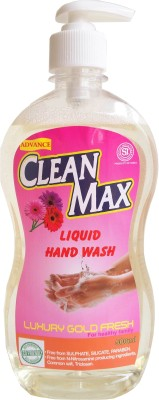Cleanmax 500ml (LUXURY GOLD FRESH) Hand Wash & Hand Sanitizer