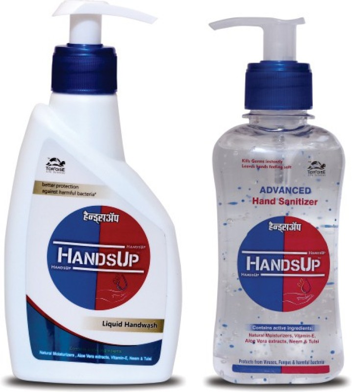 HandsUp Advanced Hand Sanitizer + Liquid Hand Wash Hand Wash & Hand Sanitizer(455 ml)