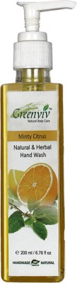 Greenviv Natural & Herbal Minty Citrus Hand Wash