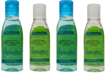 SpringBliss 50 ML (Pack of 4) Hand Sanitizer(200 ml)