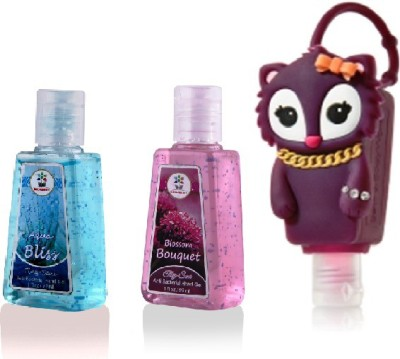 Bloomsberry Squirrel Holder With Aqua Bliss, Blossom Bouquet Hand Sanitizer