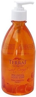 Terrai Natural Sweet Orange Liquid Soap Hand Wash
