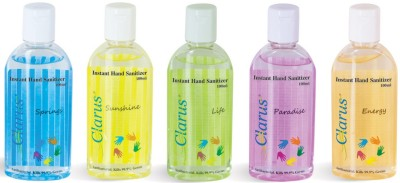 Clarus 100 ml Pack of 5 Hand Sanitizer