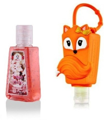 Bloomsberry Fox Holder With Fresh Bloom Hand Sanitizer