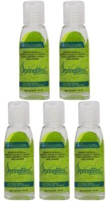 SpringBliss 15ML Natural Fragrance Bottle (Pack of 5) Hand Sanitizer(75 ml)