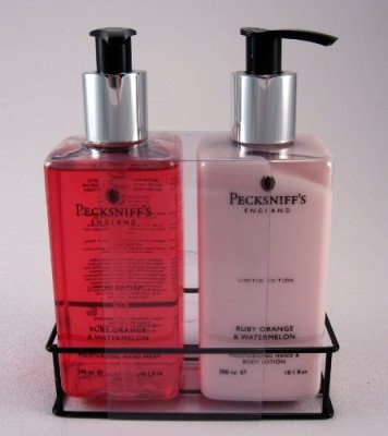 Pecksniffs pecksniff's hand wash & lotion duo ruby orange & watermelon limited edition set - 10.1 each