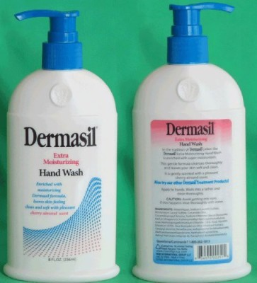Dermasil extra moisturizing hand wash, enriched with moisturizing formula