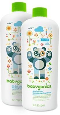 BabyGanics foaming hand sanitizer refill pack 2