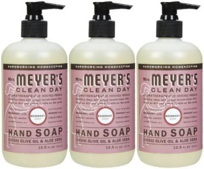 Mrs. Meyers Clean Day liquid hand soap, rosemary, 3pk, 12.5