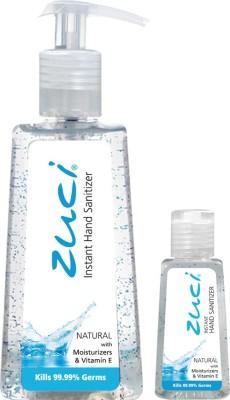 Zuci PACK OF 250 ML & 30 ML HAND SANITIZER- NATURAL Hand Sanitizer