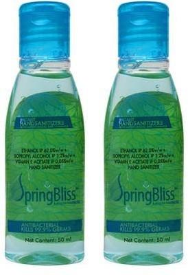 SpringBliss 50 ML Mint (Pack of 2) Hand Sanitizer(100 ml)