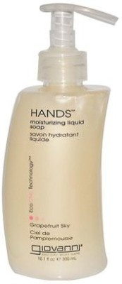 Giovanni hands liquid soap grapefruit sky