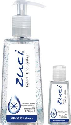 Zuci PACK OF 250 ML & 30 ML HAND SANITIZER- FRAGRANCE FREE Hand Sanitizer