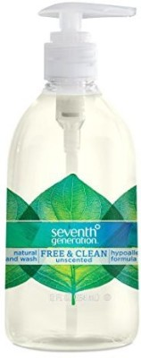Seventh Generation hand wash, free & clean unscented, 12 ounce, (pack of 8)